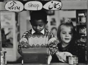 Playing shop, c. 1985