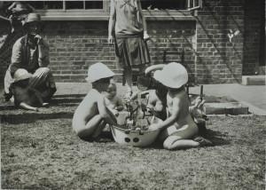 Washing the horse, c. 1920