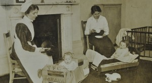 Babies in banana crates, c. 1920